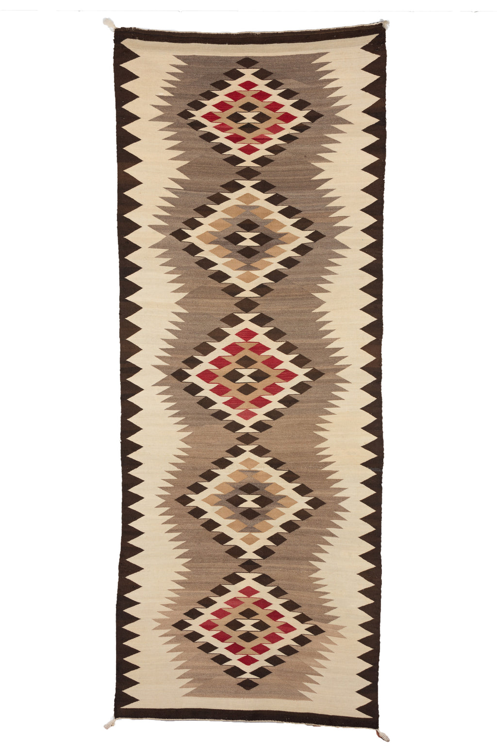 "Chinle Navajo Rug : Historic Runner : PC 47 : 3'7"" x 9'1"" - Getzwiller's Nizhoni Ranch Gallery"
