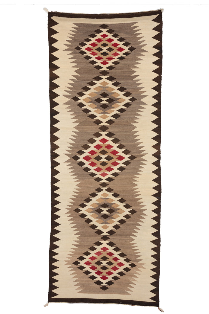 "Chinle Navajo Rug : Historic Runner : PC 47 : 3'7"" x 9'1"""