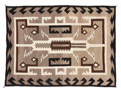 Two Grey Hills Navajo Rug Weaving : Historic : PC 99