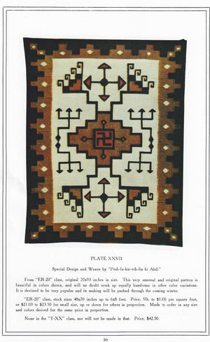 "Two Grey Hills Navajo Rug Weaving : Historic : PC 24 : 53"" x 72"" - Getzwiller's Nizhoni Ranch Gallery"