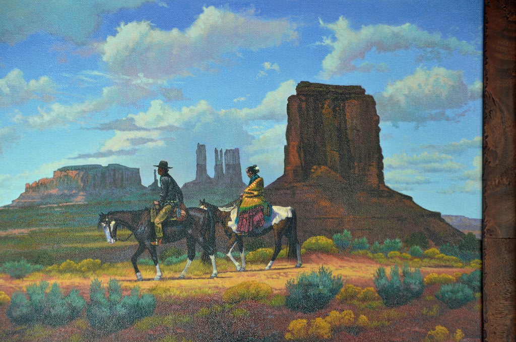 Painting - Time To Visit Neighbors : Randy Keedah - Paintings - Other Art- Navajo Rugs - Navajo Textiles