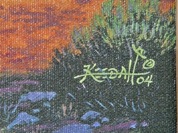 SOLD Painting - Just Catching Up : Randy Keedah - Getzwiller's Nizhoni Ranch Gallery