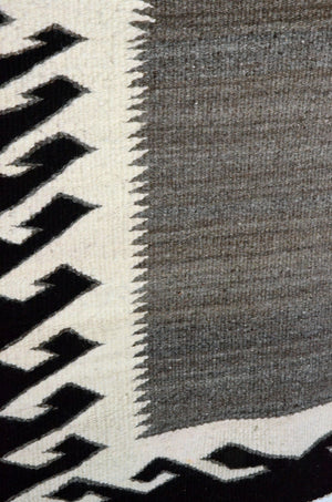 "SOLD - Navajo Double Saddle Blanket: SG 44 : 37 "" x 60"""