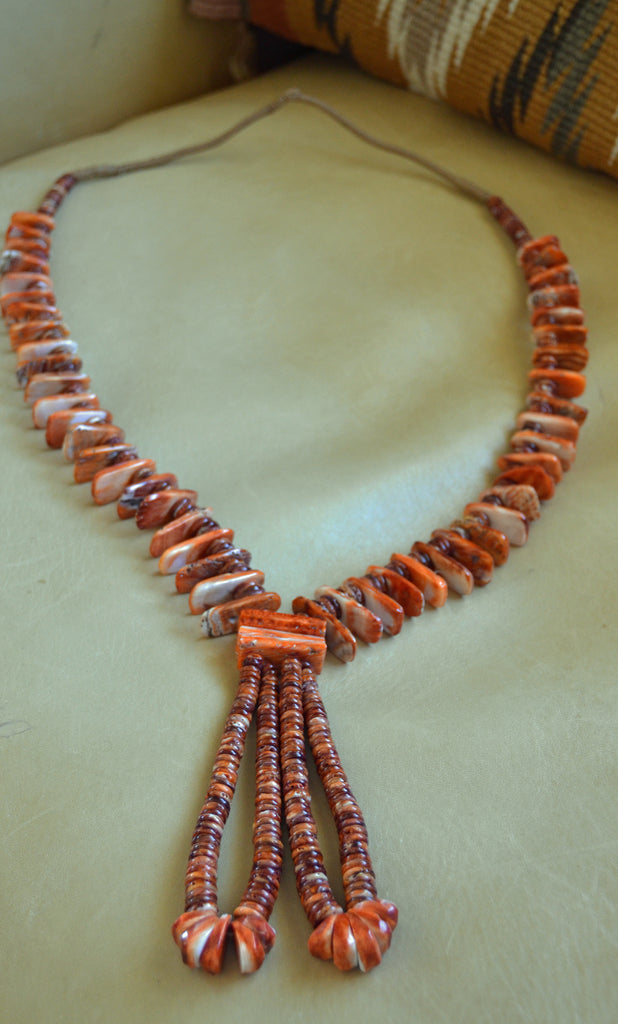 Jewelry :Spiny Oyster Shell Necklace : NAJ-N34 - Getzwiller's Nizhoni Ranch Gallery