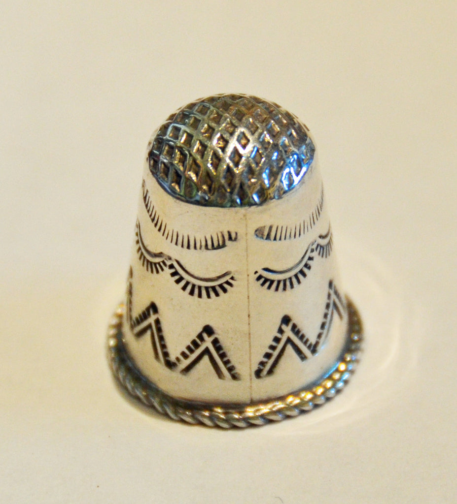 Jewelry : Sterling Silver Thimble - Getzwiller's Nizhoni Ranch Gallery