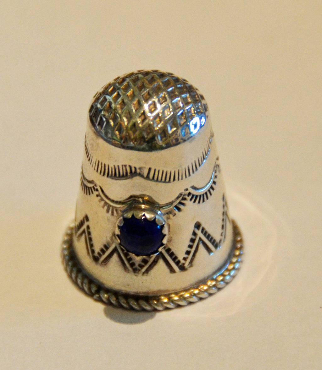 Native American Jewelry : Navajo:  Sterling Silver Thimble - Getzwiller's Nizhoni Ranch Gallery