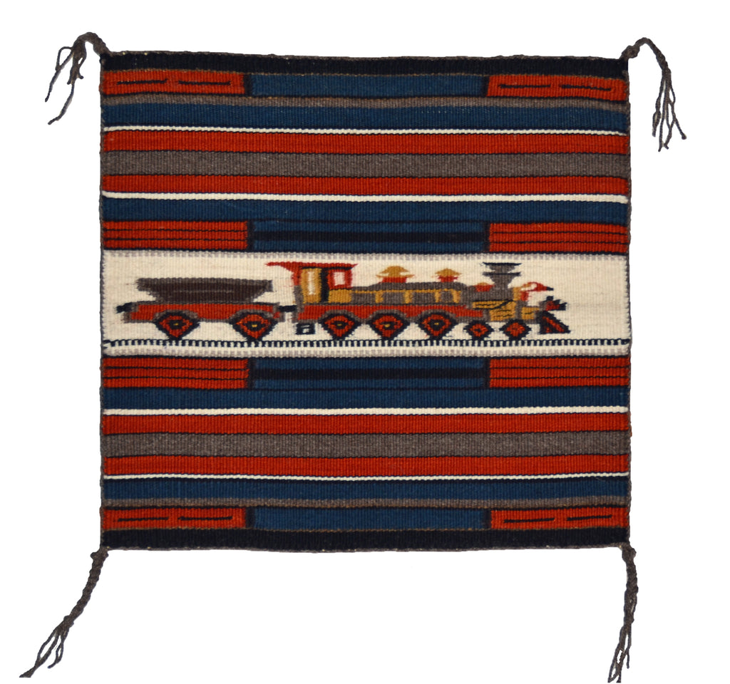 Train Pictorial Miniature Navajo Tapestry : Gloria Begay : m-156 - Getzwiller's Nizhoni Ranch Gallery