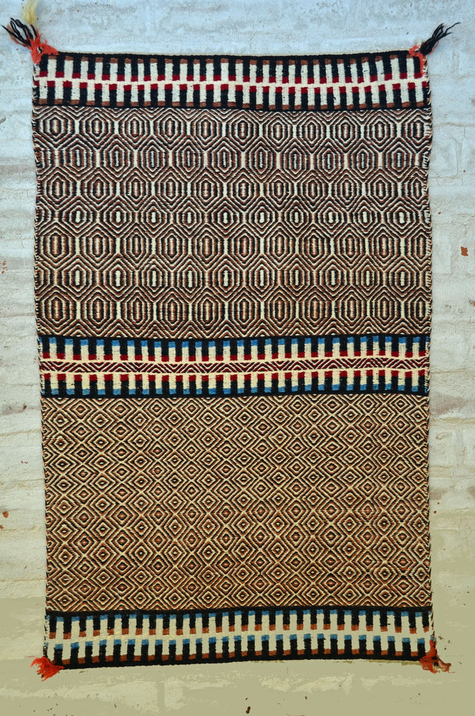 Saddle Blanket - Double Twill Navajo Weaving : Historic : GHT 2242 - Getzwiller's Nizhoni Ranch Gallery