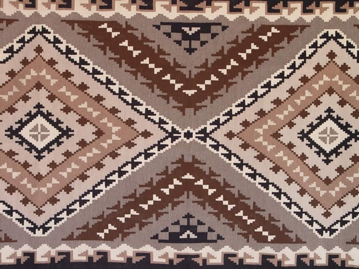 Two Grey Hills Navajo Weaving : Emma Benally : B-7 - Getzwiller's Nizhoni Ranch Gallery