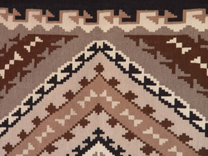 Two Grey Hills Navajo Weaving : Emma Benally : B-7 : 3'5″ x 6'1″ - Getzwiller's Nizhoni Ranch Gallery