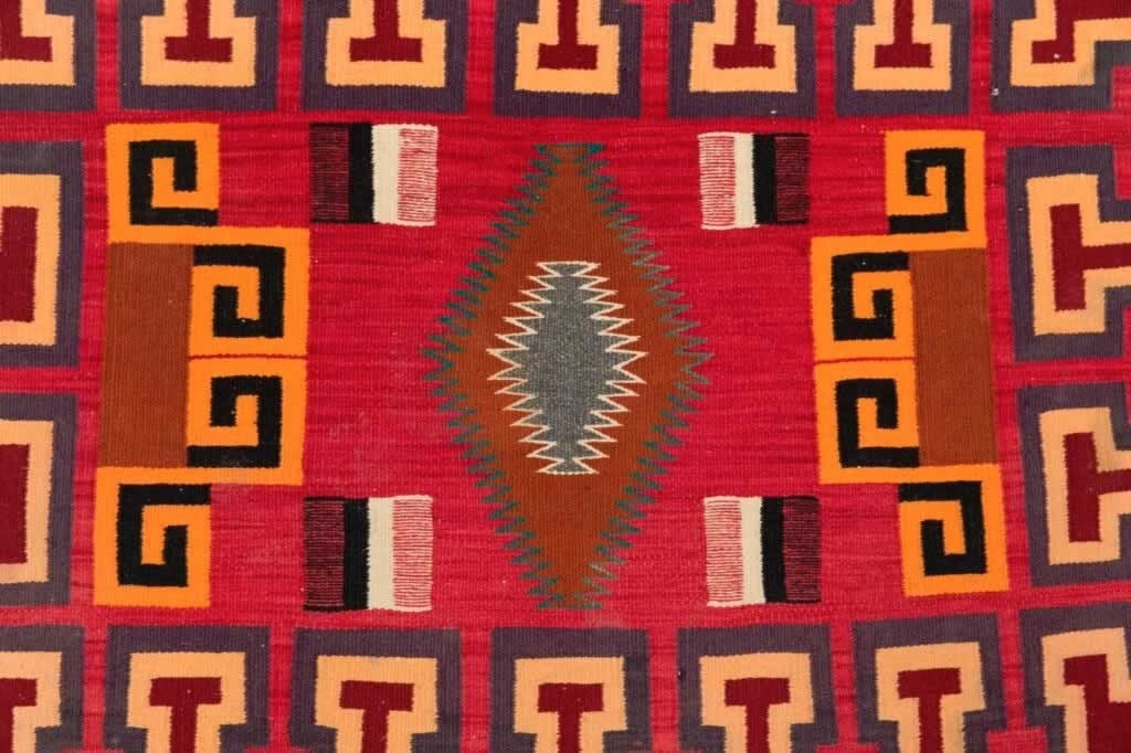 Saddle Blanket - Single Sunday Teec Nos Pos Navajo Weaving : Historic : PC-122 - Getzwiller's Nizhoni Ranch Gallery