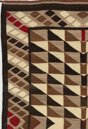 Optical Navajo Weaving : Historic : GHT 2202 - Getzwiller's Nizhoni Ranch Gallery