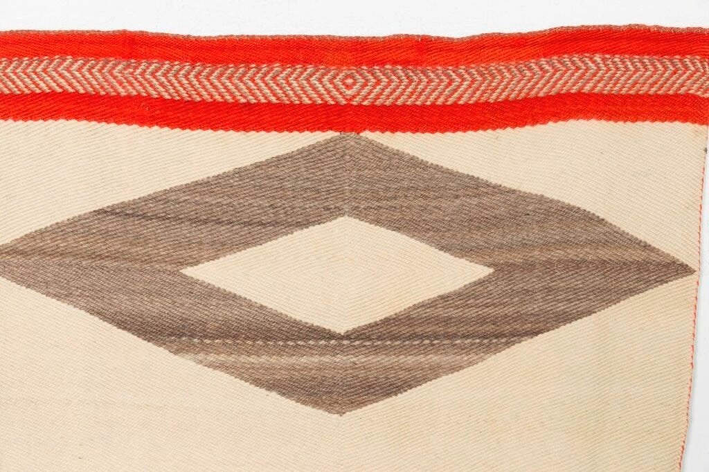 Twill Double Saddle Blanket Navajo Weaving : Historic : PC-41 - Getzwiller's Nizhoni Ranch Gallery