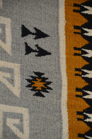Hero Twin Pictorial Native American Rug : Suzy Yazzie : SG 38 : 47″ x 81″ - Getzwiller's Nizhoni Ranch Gallery