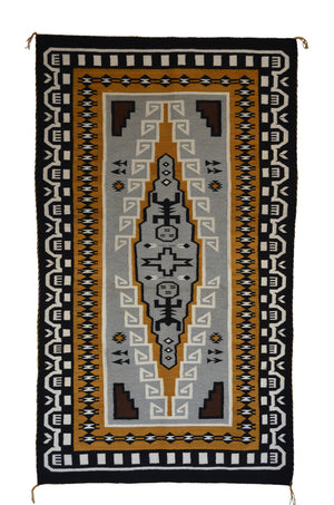 Hero Twin Pictorial Native American Rug: Suzy Yazzie: SG 38 - Getzwiller's Nizhoni Ranch Gallery