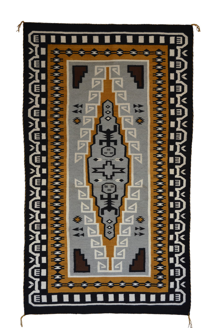 Hero Twin Pictorial Native American Rug: Suzy Yazzie: SG 38