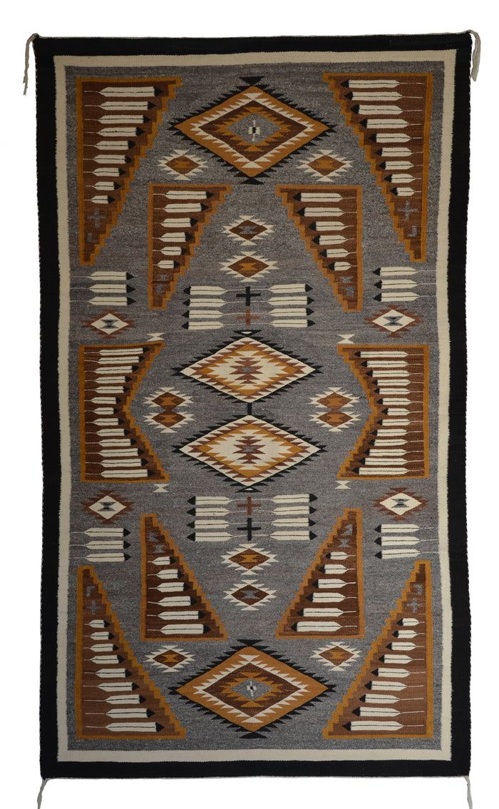 Pictorial Native American Rug : Suzy Yazzie : SG 39 : 48″ x 84″