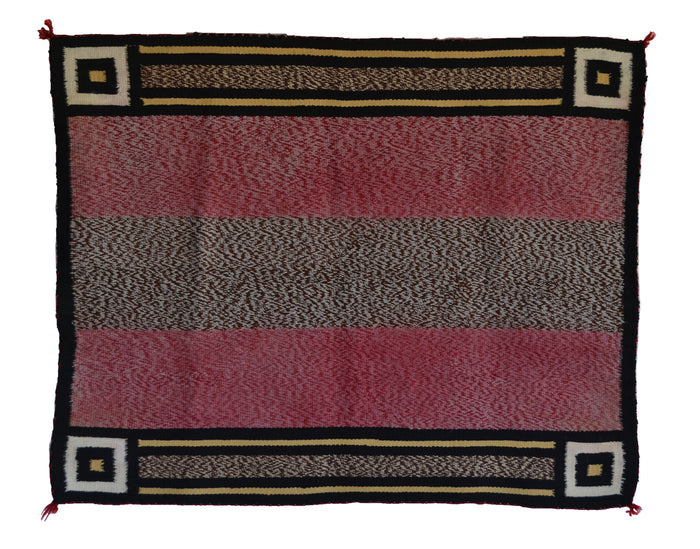 Single Saddle Blanket : Historic Navajo Weaving : PC 68