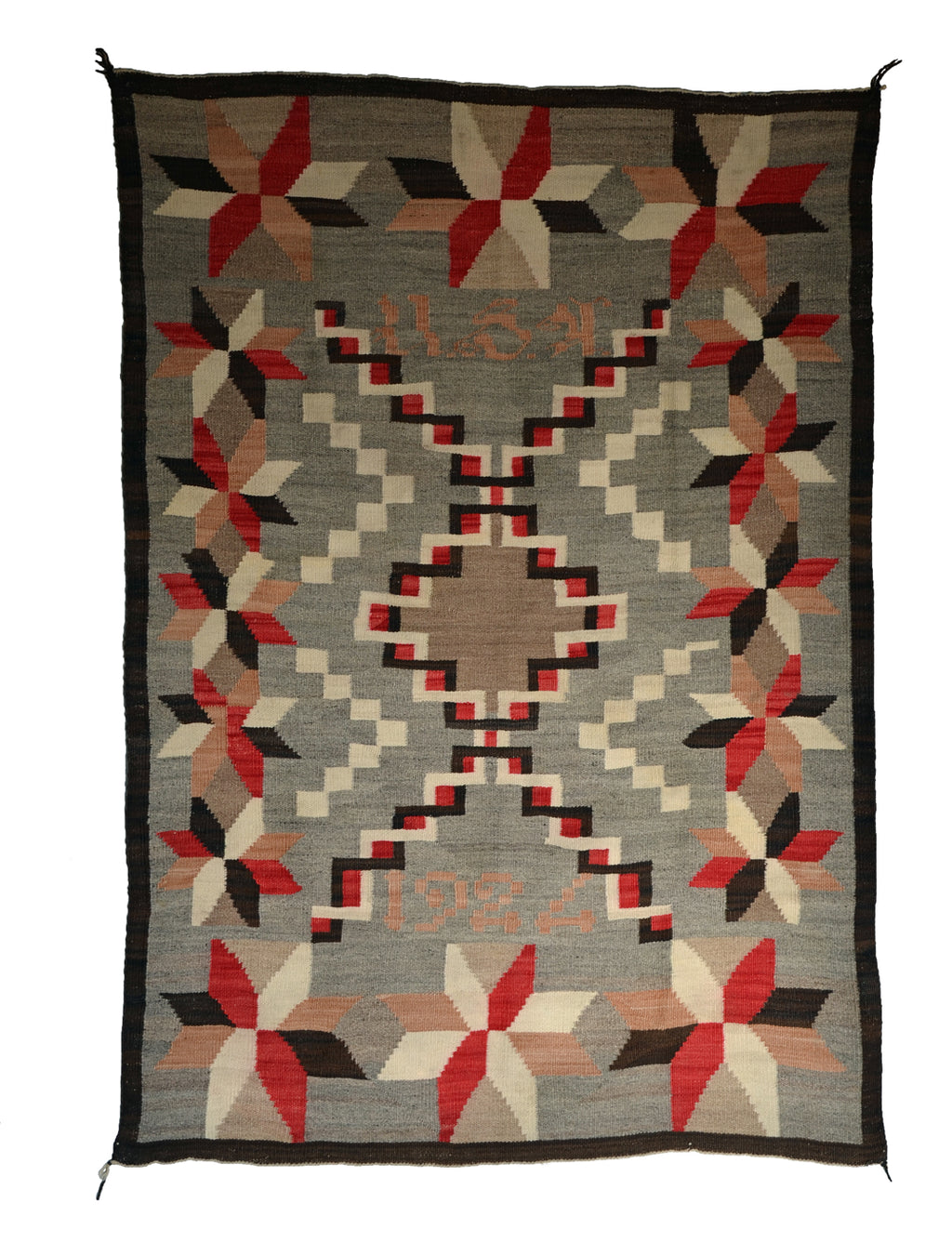 Antique Crystal Navajo Weaving : GHT 854: circa 1924