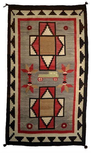 Pictorial Navajo Rug - Touring car : Historic : PC 18