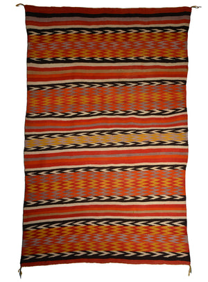 Transitional Native American Indian Blanket : Antique Navajo weaving : JV 105 : 52″ x 79″
