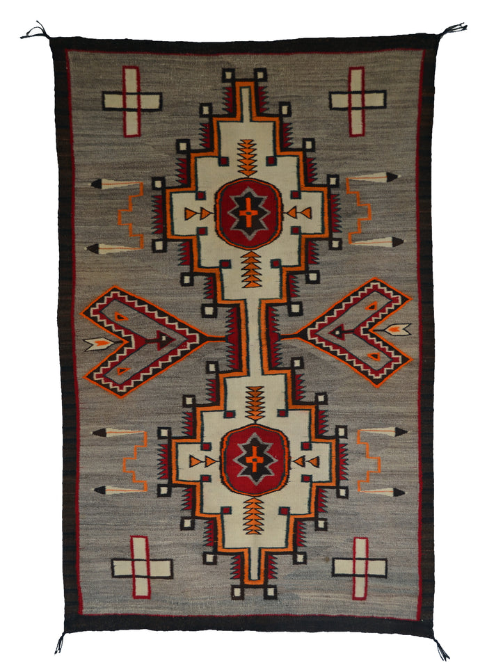 Double Saddle Blanket : Historic Navajo Weaving : PC 190 : 33″ x 52″