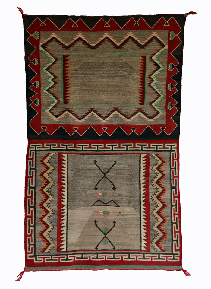 Double Saddle Blanket : Historic Navajo Weaving : PC 192