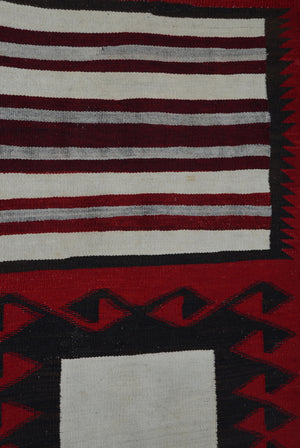 "Double Saddle Blanket : Historic Navajo Weaving : PC 199 : 30"" x 50"" - Getzwiller's Nizhoni Ranch Gallery"