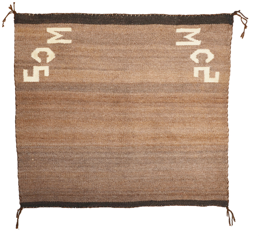 "Navajo Single Saddle Blanket : Antique : JV 103 : 28.5"" x 31.5"""