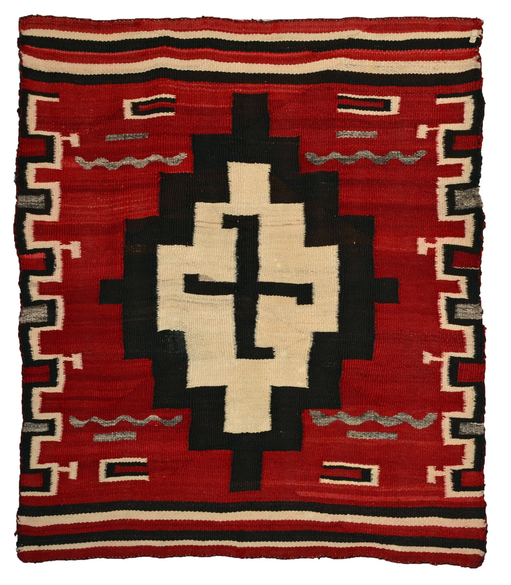 "Navajo Transitional Blanket : Antique : JV 104 :  35"" x 41"""