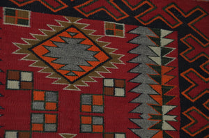 "Navajo Single Saddle Blanket : Historic : PC 209 : 34"" x 25"" - Getzwiller's Nizhoni Ranch Gallery"