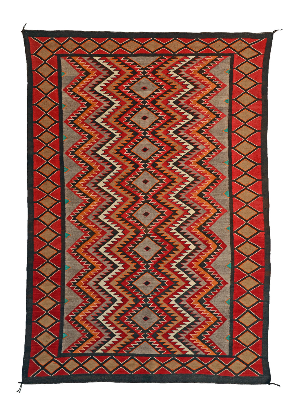 "Red Mesa / Teec Nos Pos Navajo Rug : Historic : GHT 2310 : 46"" x 69"" - Getzwiller's Nizhoni Ranch Gallery"
