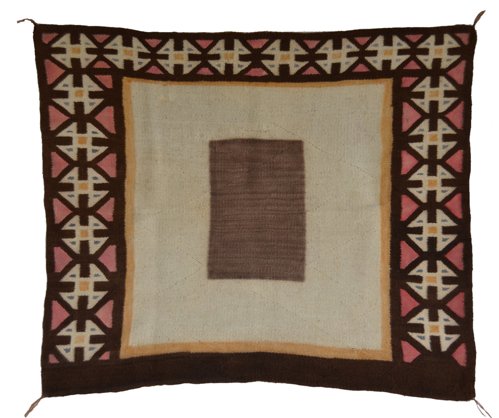 Navajo Saddle Blanket -Single : Historic : PC 289 : 27″ x 32″ - Getzwiller's Nizhoni Ranch Gallery