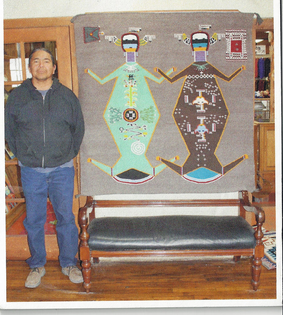 Mother Earth and Father Sky Sandpainting Navajo Weaving : Arnold Begay : 3340 - Getzwiller's Nizhoni Ranch Gallery