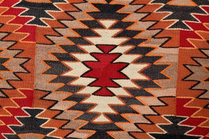 "Red Mesa / Teec Nos Pos Navajo Rug Weaving : Historic : PC 73 : 48"" x 86"" - Getzwiller's Nizhoni Ranch Gallery"