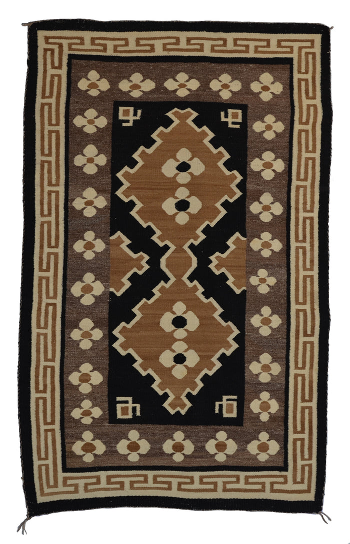 "Bistie Navajo Weaving : Historic : GHT 2311 : 34.5"" x 55"""