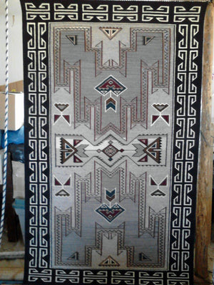 Navajo Rug almost finished and off the loom.