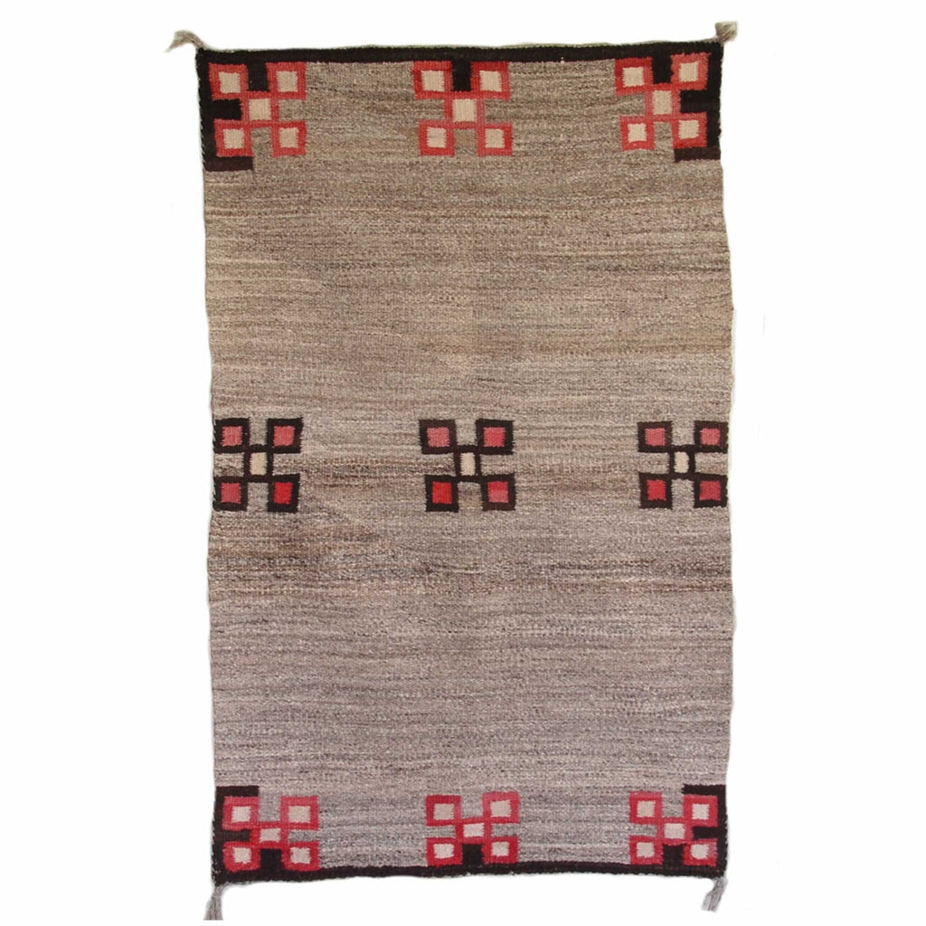 Antique Navajo Double Saddle Blanket : GHT 2038 - Getzwiller's Nizhoni Ranch Gallery
