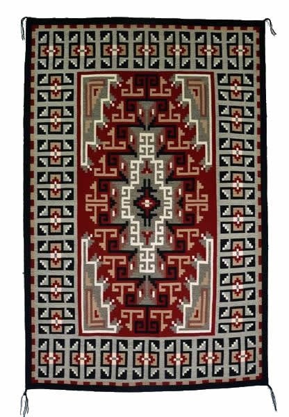 Klagetoh/Three Turkey Ruin Navajo Rug : Helen Bia : Churro 1512 : 48″ x 74″ - Getzwiller's Nizhoni Ranch Gallery