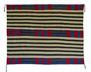 "2nd Phase Navajo Chief Blanket : Jalucie Marianito : Churro 1561 : 52""  x 66"" - Getzwiller's Nizhoni Ranch Gallery"