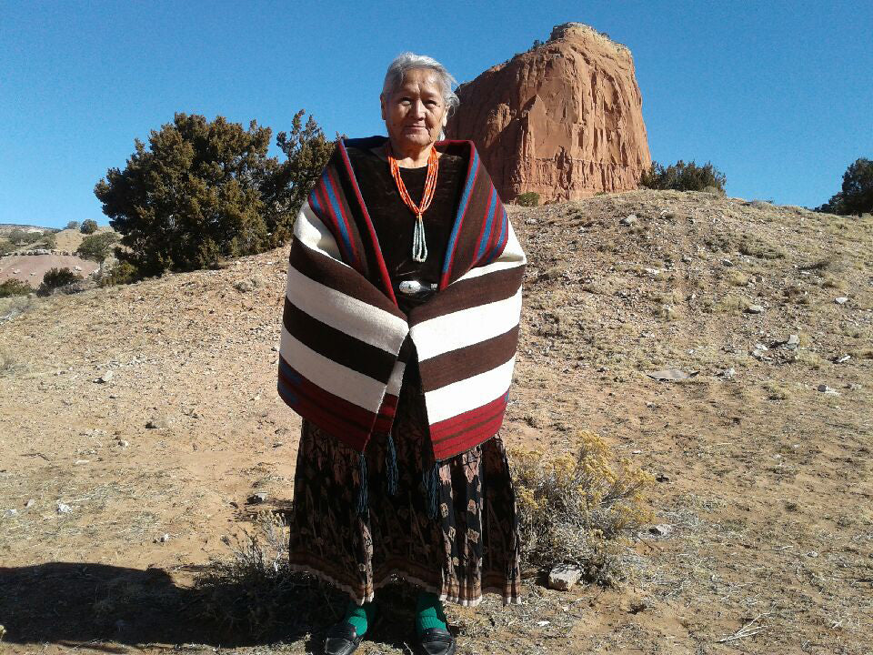 2nd Phase Chief Blanket : Julia Upshaw : Churro 1562 - Getzwiller's Nizhoni Ranch Gallery