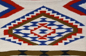 "Wide Ruin Sampler American Indian Weaving : Kathy Marianito : Churro 1616 : 30"" x 15"" - Getzwiller's Nizhoni Ranch Gallery"