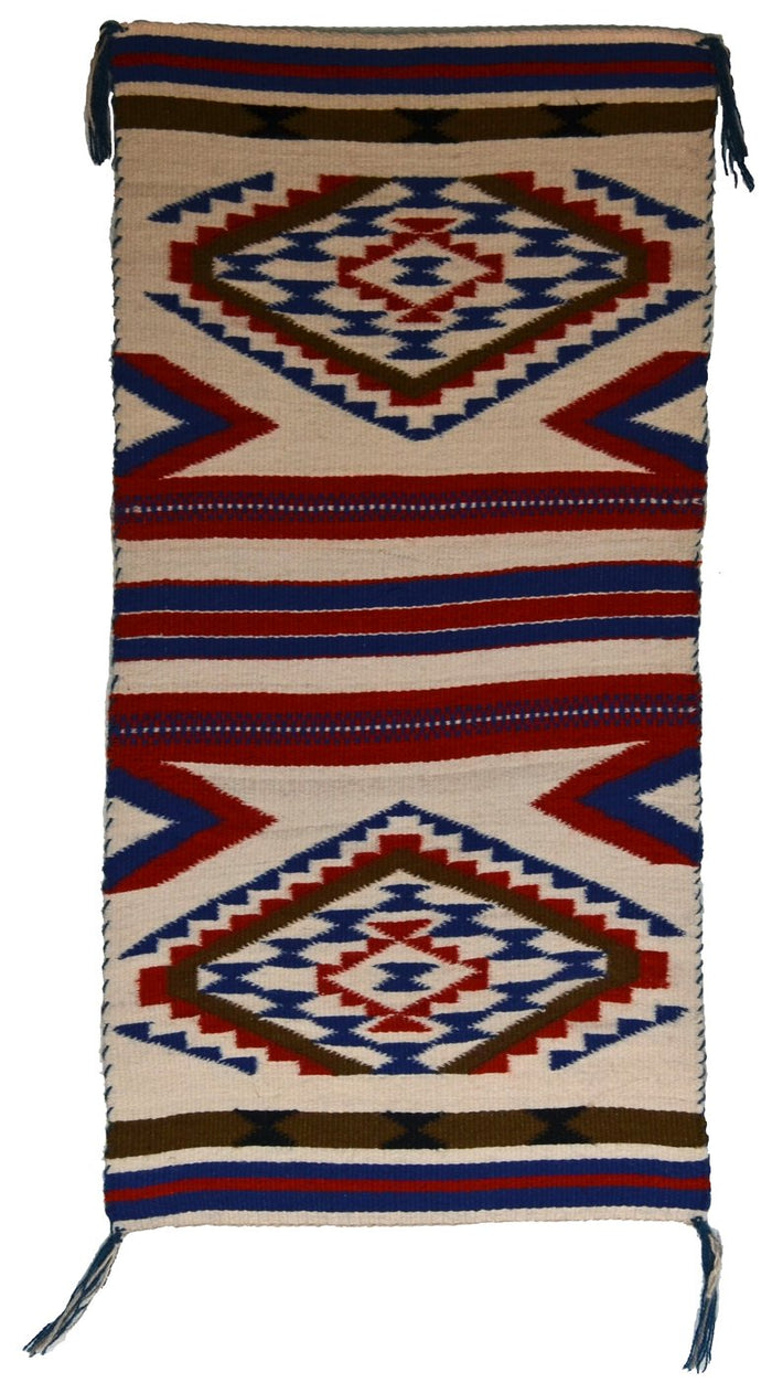 "Wide Ruin Sampler American Indian Weaving : Kathy Marianito : Churro 1616 : 30"" x 15"""