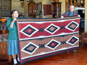 Native American Old Crystal Style Rug :  Elsie Bia : Churro 1618 : - Getzwiller's Nizhoni Ranch Gallery
