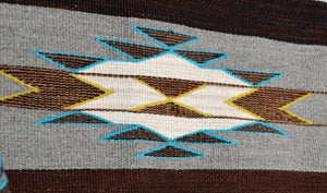 "Navajo Womans Shawl : Lucie Marianito : Churro 1619 : 73"" x 20"" - Getzwiller's Nizhoni Ranch Gallery"