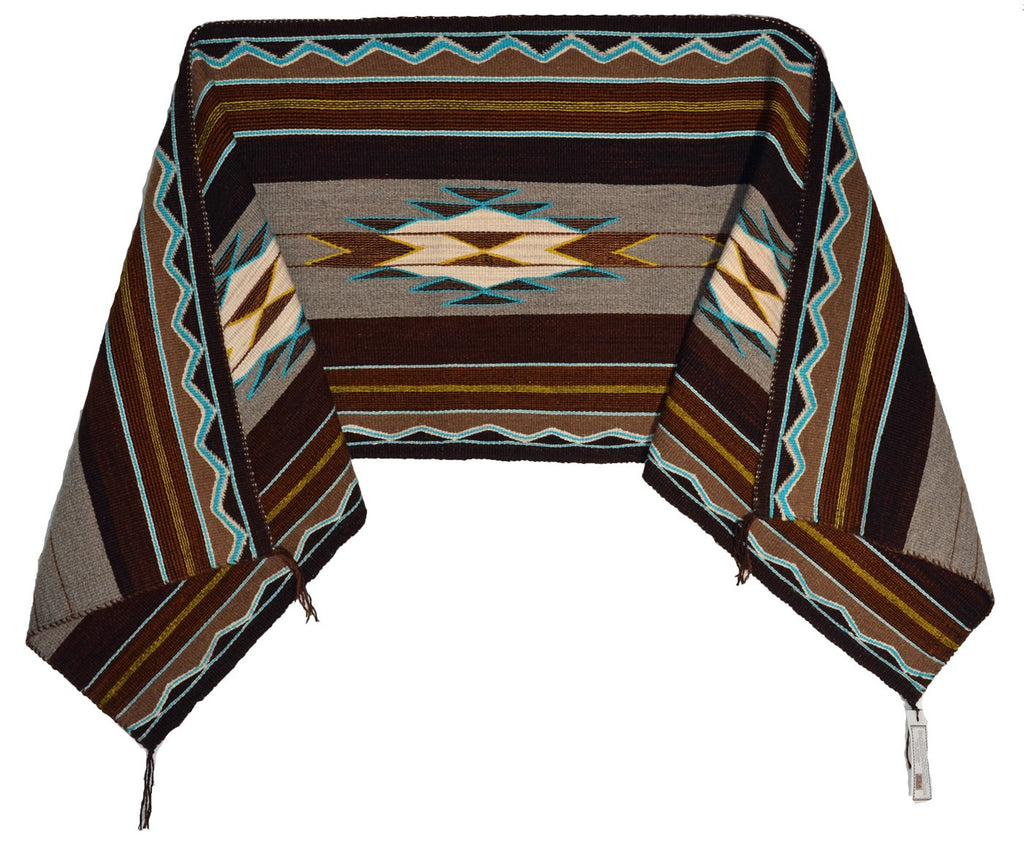 Native American Indian Woman's shawl Weaving Navajo
