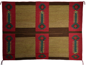 "SOLD Native American Blanket : Womans Manta : Julia Upshaw :  Churro 1621 : 68"" x 49"" - Getzwiller's Nizhoni Ranch Gallery"