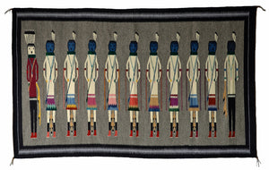 "Yei American Indian Weaving :  Elsie Bia : Churro 1624 : 37"" x 60"" - Getzwiller's Nizhoni Ranch Gallery"
