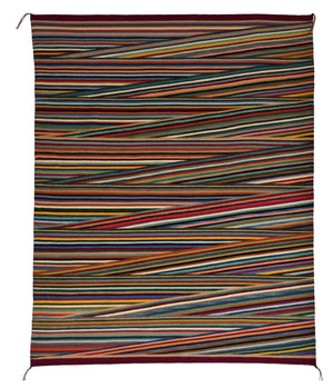 "Optical Navajo Rug : Elsie Bia : Churro 1625 : 48"" x 59"" - Getzwiller's Nizhoni Ranch Gallery"