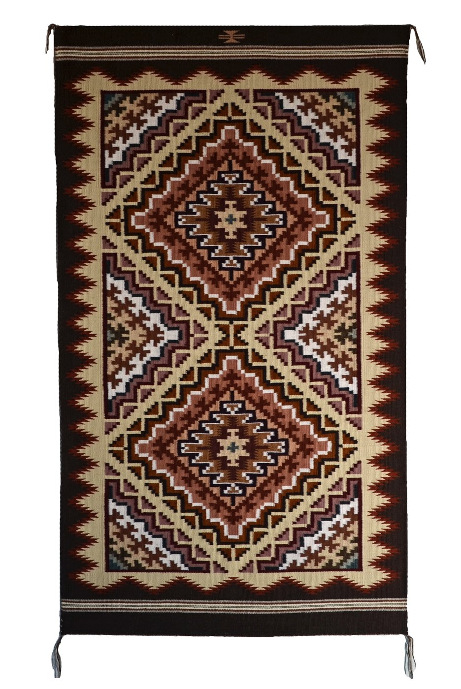 SOLD Burntwater American Indian Rug : Cara Yazzie Gorman : 3407 - Getzwiller's Nizhoni Ranch Gallery